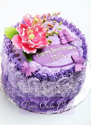 Purple Ombre Cake  large